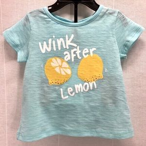Zara baby T shirt short sleeve wink lemon NWT